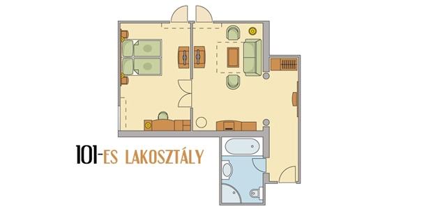 Főépületi lakosztályok 2 (+3) ágyas